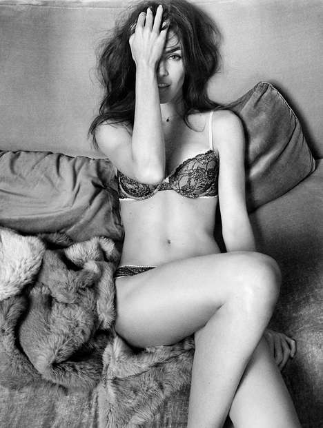 Monochromatic Effortlessly Seductive Ads - The Oysho Fall/Winter Lingerie Exudes Sensuality