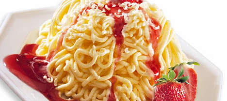 Stringy Pasta Ice Cream - This Spaghetti Ice Cream is a Sugar-Infused Way to Eat Pasta