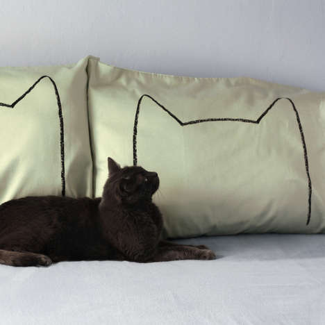 Cozy Cat-Inspired Bedding - The Cat Nap Pillow Case Set is Perfect for a Comfortable Snooze