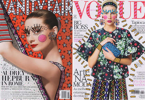 Remixed Magazine Cover Illustrations - These Fashionable Art Pieces by Ana Strumpf are Uniquely Bold