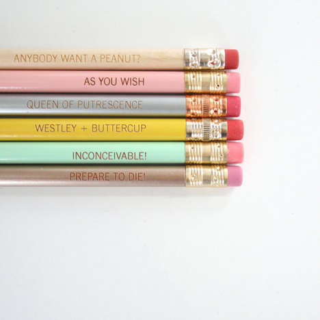Girly Literary School Supplies - These Princess Bride Pencils Feature Quotes from the Beloved Novel
