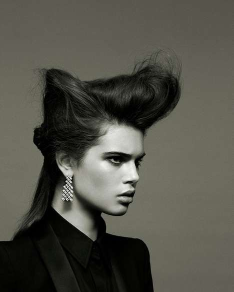 Structural Hair-Focused Photography - Clothing Takes the Back Seat in This Fashion Editorial