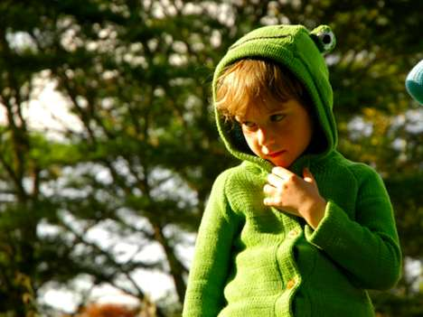 Charitable Children's Clothes - This Frog Sweater is Organically Made in Kenya for a Good Caus