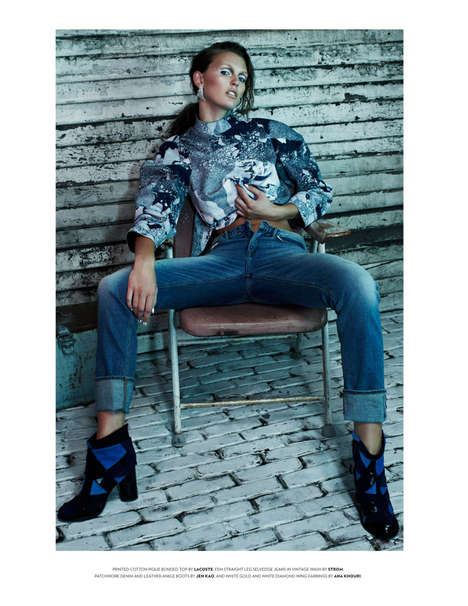 Sassy Denim-Infused Editorials - The Flaunt Magazine Denim Issue Has a Playfully Defiant Feel