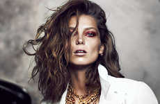 Luxe Leather-Infused Editorials - The Fashion Magazine October Issue Features Daria Werbowy