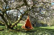 Cozy Suspended Chairs - The Cacoon Hanging Nest Chair is an Adorable Getaway with a View