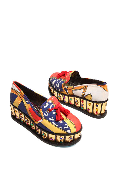 Ornate 80s-Themed Loafers - These Irregular Choice Goody Two Shoes Reveal Jewelled Accents
