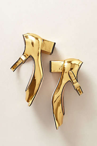Mirrored Gold Heels