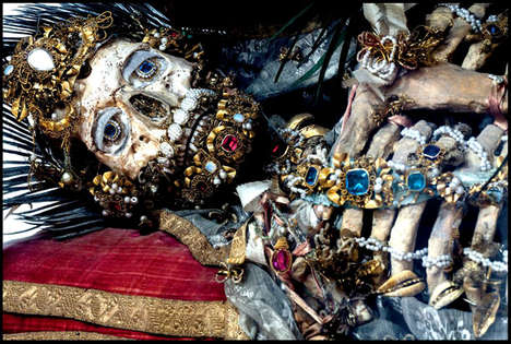Ancient Bejeweled Skeletons - These Incredible Jeweled Skeletons are Historic Pieces from Rome