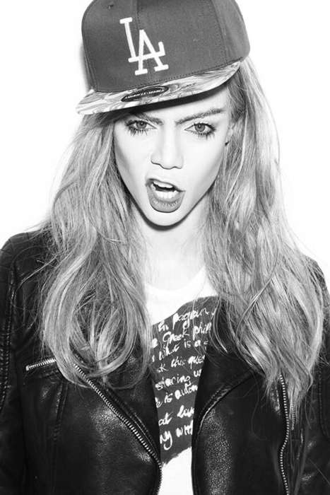 Model-Mimicking Shoots - Tyra Banks Photography Shows Her Imitating Cara Delevigne and Kate Moss