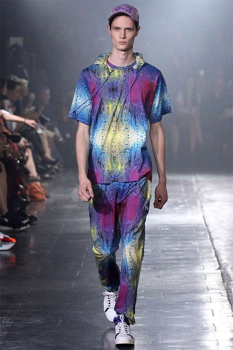 Raver-Themed Athletic Runways - The Y-3 Spring/Summer Collection is 90s Inspired