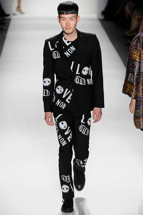 Suited Punk Rock Runways - The Libertine Spring/Summer 2014 Collection is Musician-Approved