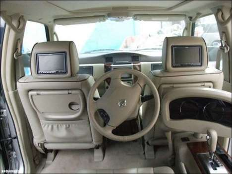 Back-Seat Driver Vehicles - A Dubai Resident Recently Customized His Car for Back-Seat Driving