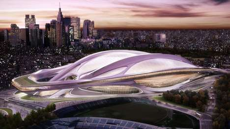 Alien Athletic Architecture - The Tokyo 2020 Olympic Stadium Has a Glass Roof and Seats 80,000