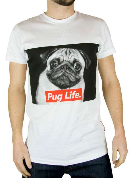 Adorable Gangster Puppy Shirts - This Hilarious 'Pug Life' Tee Features an Adorable Gang