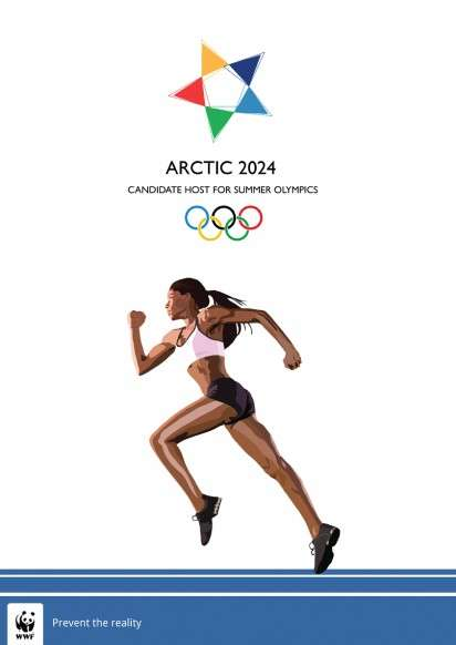 Athletic Arctic Awareness Ads - The WWF Global Warming Ads Spoof the Summer Olympic Games