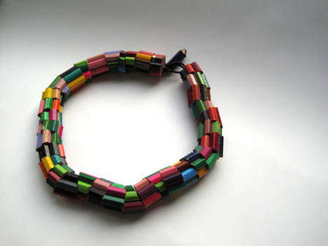 Colored Pencil Choker Jewelry - Elli Hukka's Jewelry Collection Turns Art Supplies into Access