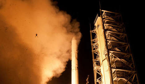 Flying Frog Photobombs - This NASA Frog Photobomb Attempts to Beat the NASA Launch to Fame
