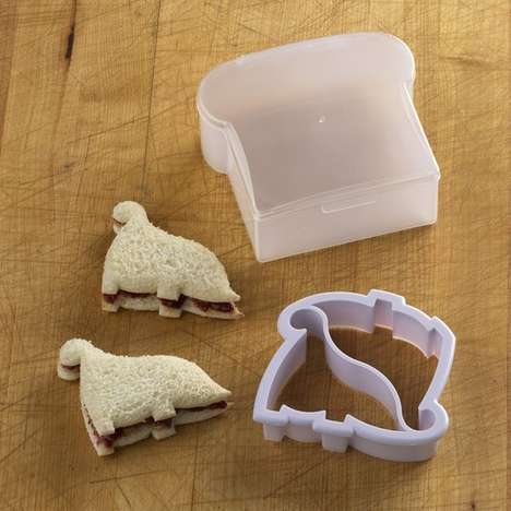 Dinosaur Sandwich Cutters - The Perpetual Kid Bread Mold Makes Lunches More Fun for Everyone