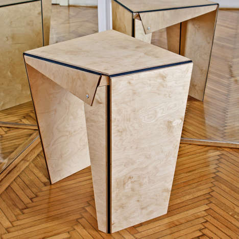 Folded Origami Furnishings - The Plie Collection by Gergely Kiss-Gal is Geometry-Infused