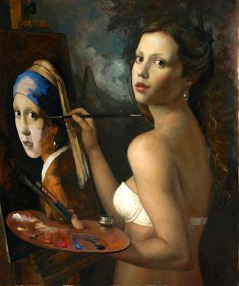 Re-Imagined Iconic Paintings - Cesar Santos
