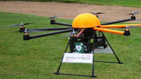 Life-Saving Helicopter Drones - The Defikopter is a GPS Location Tracking Defibrillator