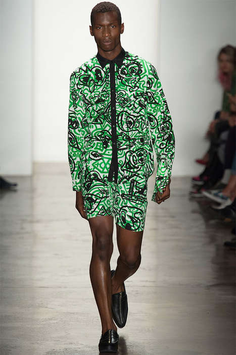 Electric Graffiti Streetwear - The Jeremy Scott Spring/Summer 2014 Collection is Rebelliously Egdy