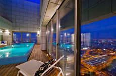 Glimmering Glass Penthouses