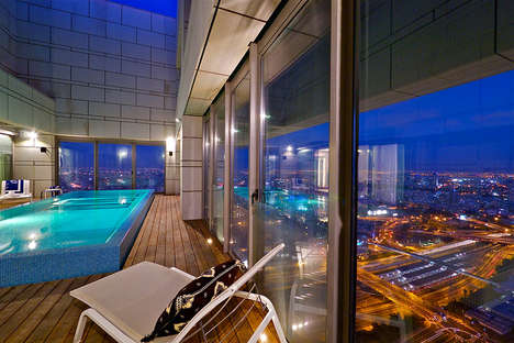 Glimmering Glass Penthouses - These Luxurious Penthouses in Tel Aviv are a Couple