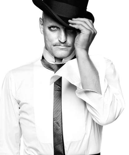 Dapper Icon Photo Shoots - Woody Harrelson Looks Posh in Black and White