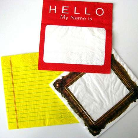 Note-Taking Napkins - These Cocktail Napkin Notes Makes Exchanging Numbers More Memorable