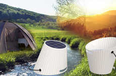 Solar Energy-Powered Buckets - The Solar Energy Bucket Uses the Sun's Rays to Heat Water or Light Up