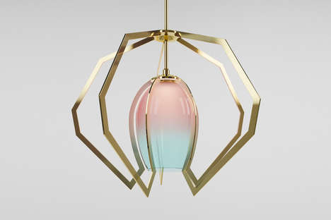 Sculptural Metallic Lighting - Designer Bec Brittain Creates Modern Lighting with Brass and Glass