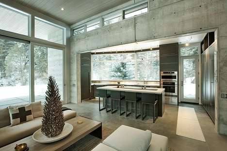 Cozy Concrete Holiday Retreats - This Colorado Chalet is a Winter Wonderland