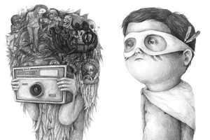 Stefan Zsaitsits' Disturbing Drawings Depict Children in an Unusual Way