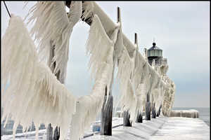The Ice Sculptures at St. Joseph North Pier are Spectacular