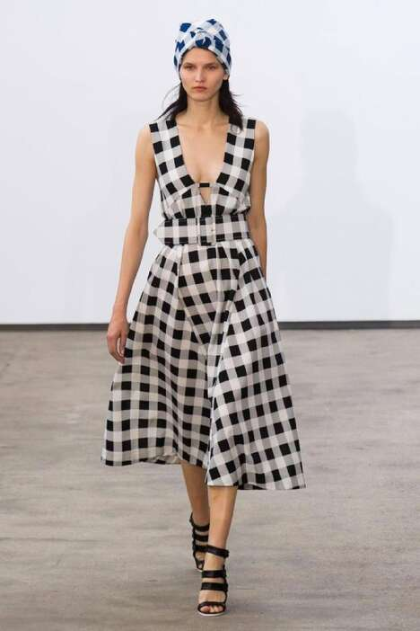 Retro Gingham Runways - The Derek Lam Spring/Summer 2014 Collection Embraces Classic Cuts