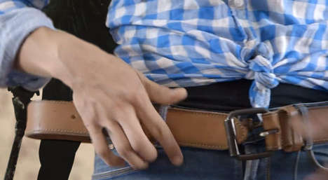 Vibrating GPS Belts - The Triposo Travel Belt Helps Travellers Find Their Way Around