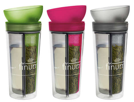 Built-In Infuser Mugs - This Travel Tea Mug Touts a Clever Design For Brewing Loose Leaf Tea
