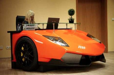 Auto-Infused Workspaces - Work in the Fast Lane with the Lamborghini Murcielago Desk