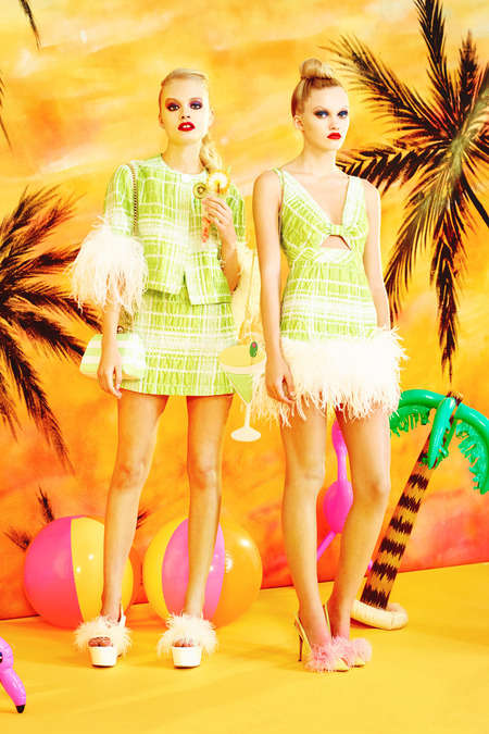 Malibu Barbie-Inspired Fashions - The Moschino Cheap & Chic Spring 2014 Lookbook is Outrageously Fun