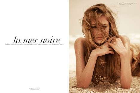 Natural Disheveled Beach Editorials - Anna Roos Van Wijngaarden Rocks Beach Attire Effortlessly
