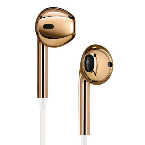 gold apple earpods
