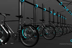 The Vertical Bike Holder Cyble Hoists Bicycles Vertically to Save Space