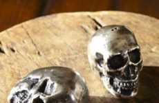 Haunting Seasoning Shakers - Add a Spooky Feel to Your Table with the Skull Salt and Pepper Jars