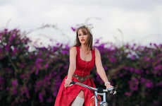 Fashionable Chic Vintage Bikes - The Ladies' Bike Complements a Woman's Style Choice
