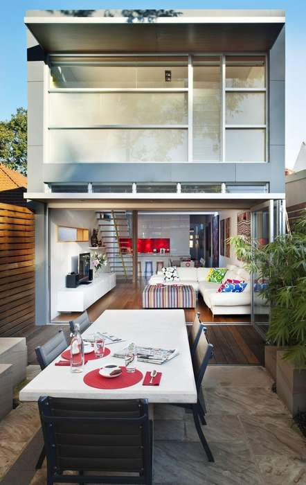 Geometrically Vibrant Living Spaces - Rolf Ockert Design Developed a Brilliant Home Extension