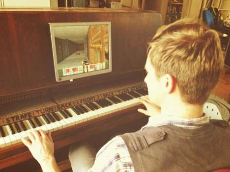 Piano-Converted Game Controllers - This Piano Controller is Able to Play the Video Game