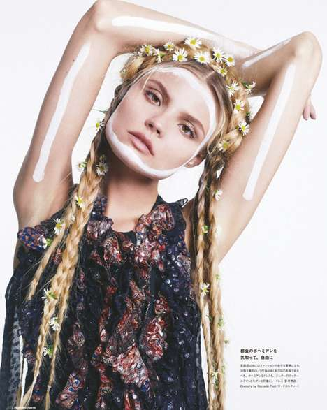 Eclectic Expressive Editorials - The Magdalena Frackowiak Numero Tokyo Photoshoot is Transformative