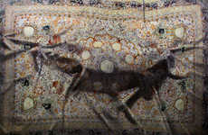 Bulging Carpet Paintings - Artist Antonio Santin Creates Eerie Images Revolving Around Rugs